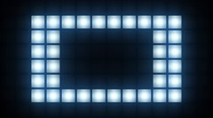 Strobe Lights Flashing VJ Blinking Box Lights Bulb Stage Stock Footage