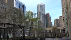 Cityfront Plaza with NBC Tower on background. Chicago Stock Footage