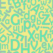 continuous letters pattern - stock illustration