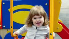 Swing and baby Stock Footage