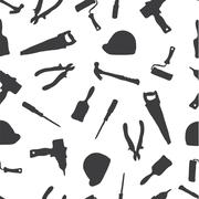 The ornament of building tools - stock illustration