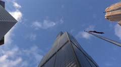 Willis Tower with zoom to glass balcony of Skydeck. Chicago Stock Footage