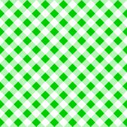Seamless pattern of a green white plaid tablecloth Stock Illustration
