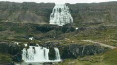 DYNJANDI (FJALLFOSS) WATERFALL, ICELAND - CIRCA AUGUST, 2014 Stock Footage