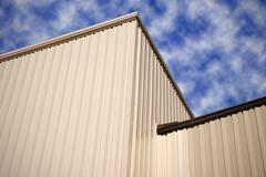 New Factory Siding - stock photo