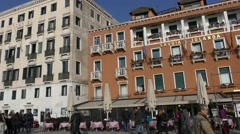 Ancient architecture  Venice, Italy Stock Footage