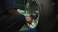 Changing tires Stock Footage
