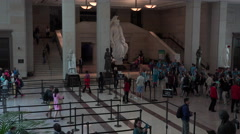 Washington DC US Capitol building visitor center tour area fast 4K 026 Stock Footage