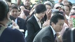 Yingluck Sinawatra Arrives at Supreme Court Stock Footage