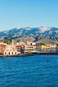 venetian habour of Chania, Crete, Greece - stock photo