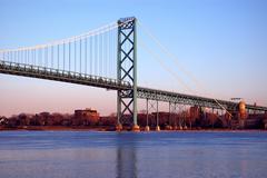Detroit Canada Bridge Kuvituskuvat