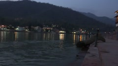 River Flow / Ganga River in Rishikesh 7 Stock Footage