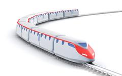 High speed train. My own design. Piirros