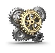 Stock Illustration of Cogs and gears.