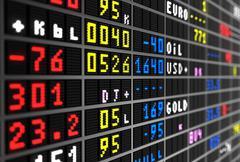 Stock market board Piirros