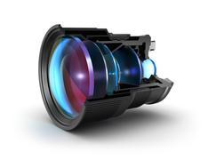 Sectional camera lens Stock Illustration