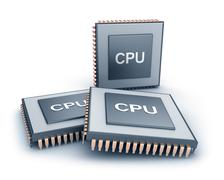 Set of microprocessors Stock Illustration