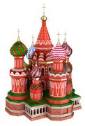 Cathedral on the Red Square in Moscow, Russia, isolated Stock Illustration
