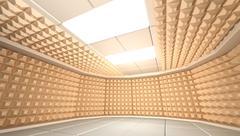 Soundproof room - stock illustration