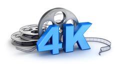 Ultra HD 4k icon - stock illustration