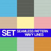 Set Seamless pattern, Wavy lines,texture for background, wallpaper for your o - stock illustration