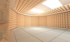 Soundproof room - stock illustration