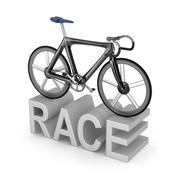 Bicycle race icon on white background - stock illustration