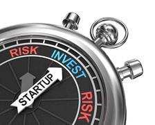 Startup risk invest concept - stock illustration