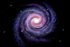 Spiral galaxy, illustration of Milky Way - stock illustration