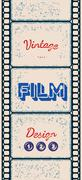 Grungy poster with letterpress styled film strip Stock Illustration