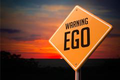 EGO on Warning Road Sign Stock Illustration