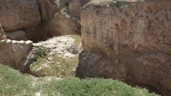 Tilt Tel of Jericho, Tell es Sultan Stock Footage