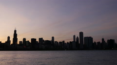 Time lapse Chicago skyline sunset Arkistovideo