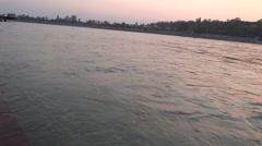 River Flow / Ganga River in Rishikesh 5 Stock Footage