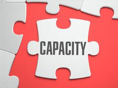 Capacity - Puzzle on the Place of Missing Pieces Stock Illustration