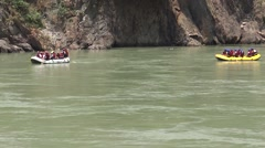 Rafting in Ganga River in Rishikesh 6 Stock Footage