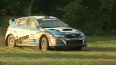 Subaru Rally Racing Stock Footage