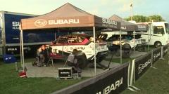 Subaru Rally Team Pits Stock Footage
