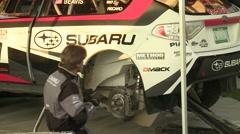 Subaru Rally Mechanic Stock Footage