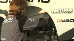 Rally Mechanic Close Up Stock Footage