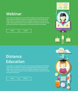 Webinar and Distance Education - stock illustration
