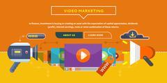 Video Marketing. Concept for Banner, Presentation Piirros