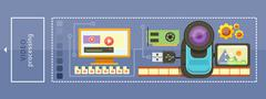 Video Processing Concept Stock Illustration