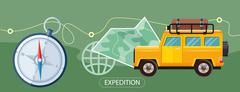 Expedition Concept Stock Illustration