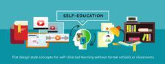 Self-education Concept - stock illustration