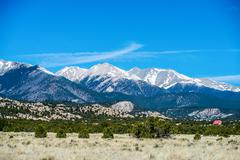 colorado roky mountains vista views - stock photo
