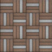 Brown and Gray Pavement Rectangle Laid in Form of Weaving - stock illustration