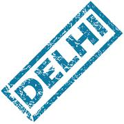 Delhi rubber stamp - stock illustration