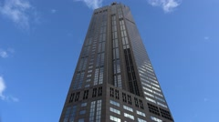 311 South Wacker Drive tower with timelapse clouds. Stock Footage