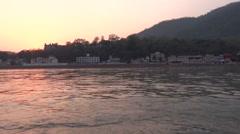 River Flow / Ganga River in Rishikesh 2 Stock Footage